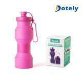 Collapsible Silicone Water Bottle Travel Cup Outdoor Sports Kids Bottle Tourism Nontoxic Portable Folding Cup BPA Free Reusable Bottle 27oz