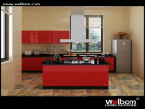 ISO Welbom Customized Red High Gloss Lacquer Kitchen Cabinet
