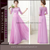 Wholesale Half Sleeve Chiffon Patchwork Long Evening Prom Dress (TMKF274)