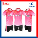 Healong Good Design Sports Clothing Gear Sublimatiom Ladies Table Tennis Uniforms