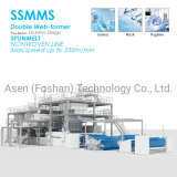 High Quality3200mm Ssmms Spunbond Melt Blown Non Woven Production Line Equipment Machine and Nonwoven Textile Machinery Price