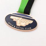 Cheap Promotion High Quality Black Soft Enamel Metal Rifle Pistol Club Medal