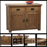High Quality Solid Oak Small Sideboard with 2 Drawers&2 Doors