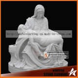 Pieta Sculpture, The Mourning of Christ Statues in White Marble Ms-047