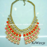 Colorful Stones & Big Chain Fashion Necklace/Fashion Jewelry (XJW2131)