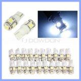 T10 194 168 Wedge 5PCS SMD 5050 White Car LED Light DC12V Auto Lamp Bulbs