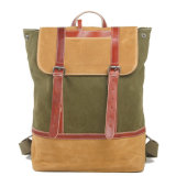 Canvas Leather School Student Computer Bag (RS-2009D)