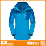 Women′s 3 in 1 Winter Fashion Sport Warm Jacket