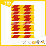 Yellow and Red Reflective Traffic Sign for Truck