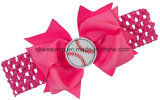 Baseball Fans Bows Elastic Lace Headband with Bands
