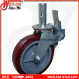 Supplier High Quality Scaffold Caster with 8 Inch TPU Wheel