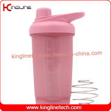 New design 500ml plastic protein shaker bottle with metal mixer ball(KL-7049)