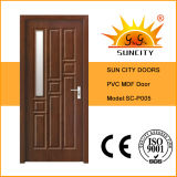 Elegant Design Vertical Glass PVC Doors (SC-P005)
