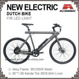 26 Inch Electric Mens Bicycle Holand Oma Dutch Battery Bike LED Light