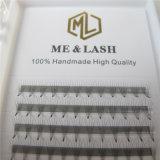 Me&Lash Private Logo Short Base Spot Glue Premade Fans Volume Lashes Silk Pre Fanned Eyelash Extension 0.07D 5D