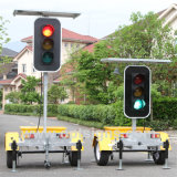LED Flashing Stop Sign Mobile Solar Traffic Signal Light