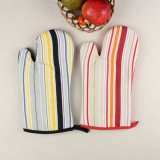 Kitchen Custom Stripe Design Cotton Printed Microwave Protective Oven Mitt