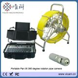 Pan Tilt 50mm Camera 60m Push Rod Camera Industrial Pipe Inspection System V8-3388PT