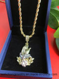 Hip Hop Bling CZ Crystal Prayer Hands Jewelry Necklace Pendant