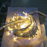 LED String Lights Cooper Wire Outdoor Use LED String Lighting Chain with Auto Flashing LED Bulbs
