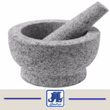 Cheap Grey Granite Mortar and Pestle for Kitchen