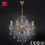 Decorative Crystal Chandelier with Golden Finish