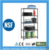Amj 5-Tier Steel Shelving in White with Steel Shelves for Storage