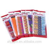 Foaka Blister Card Assorted Color Standard Wooden Hb Pencil with Eraser