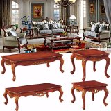 Living Room Furniture with Wood Fabric Sofa Set (510E)