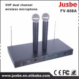 Fv-808A Professional Wireless Microphone Dual Radio Stage Microphone Karaoke Microphone