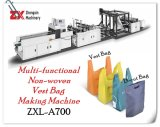 Hot Sale Environmental Zhengxin Non-Woven Bag Making Machine in T-Shirt Bag -Cut Bag D-Cut Bag
