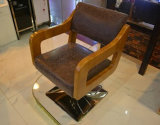 Solid Wood Hairdressing Chair Restoring Ancient Ways Hairdressing Chair New Hair Salons Haircut with Chairs (M-X3195)