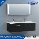 European Style Wall Hung LED Light Mirror Bathroom Vanity Unit