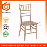 Gold Color Stackable Solid Wood Chiavari Ballroom Party Events Chair