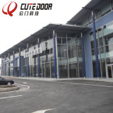 Customized Full View Aluminum Frame Perspective Glass Panel Garage Door