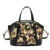 OEM ODM Fashion Flowers Custom Designer Leather Tote Women Bag