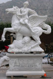Marble House Animal and Lady Carving Sculpture for Outdoor Decoration