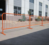 Powder Coating Steel Pedestrian Barrier/Steel Crowd Control Barrier