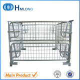 Storage Stackable Foldable Wire Cage with Wooden Pallet