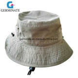 100%Cotton Washed Sun Hat with Cord Adjustment (LY018)
