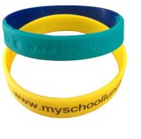 Fashion Silicone Wristband with Laser Fill Ink Logo