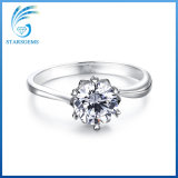 Classic Style White Cubic Zirconia 925 Sterling Silver Fashion Ring Jewelry