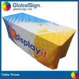 Advertising Trade Show Printed Polyester Fabric Table Throw Cloth