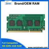100% Tested Unbeffered So-DIMM RAM DDR4 4GB 2133MHz 2400MHz Computer Memory