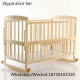New Custom Foldable Wooden Bed Baby Cot