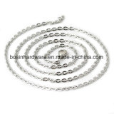 Stainless Steel Flat Cable Rolo Chain Necklace