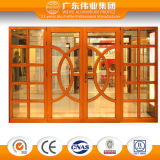 Top Quality Chinese Style Wood Color Aluminium Casement Window