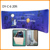 Curve Shape Backdrop Fabric Tension Display Wall Banner Stand