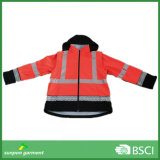 Safety Clothing High Visible Reflective Soft Shell Jacket