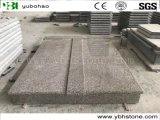 European Style Natural Stone Granite Double Tombstone with Flower Bed